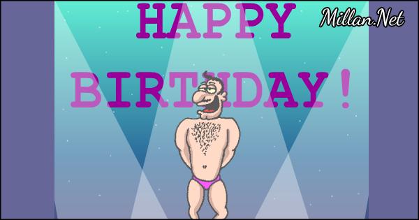 Free birthday stripper e card
