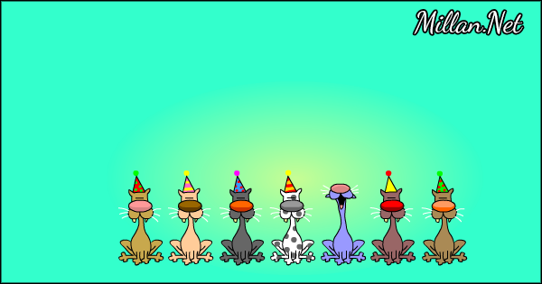 About >> Birthday eCards - Birthday Cat Choir Singing Happy Birthday Card